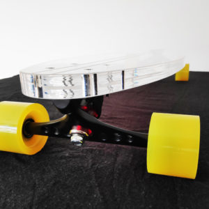Transparent Longboard Earth - Beyond Longboards